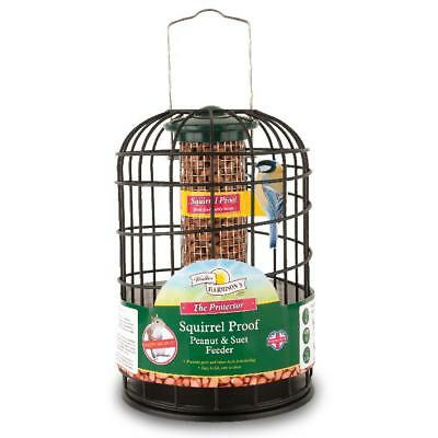Harrisons SQUIRREL PROOF PEANUT SUET FEEDER Nut Protector Guard Wild Bird 20cm