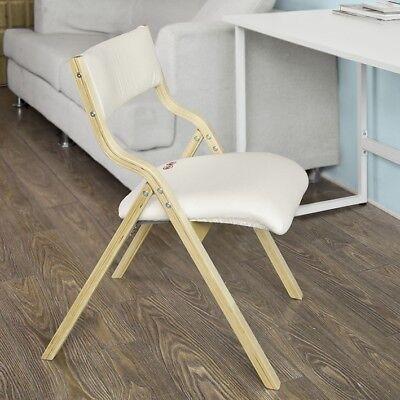 SoBuy Silla Plegable de madera Silla de cocina Silla de comedor FST40-W,ES