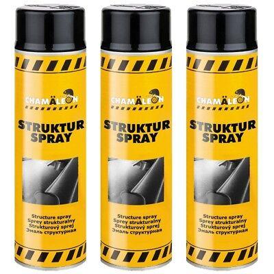 Strukturlack Schwarz 3 x 500ml Kunststoff Strukturspray Bumper Paint für Plastik