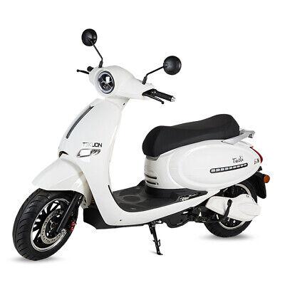 Moto scooter electrica matriculable 1500w bateria 63v 50Ah Tivoli color blanco