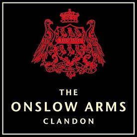 Bar/Waiting Staff - The Onslow Arms, West Clandon, near Guildford - up to £7.50/hr + great tips!