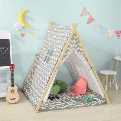 SoBuy Spielzelt Zelt für Kinder mit 2 Türen und einem Fenster Spielhaus OSS02-HG ()