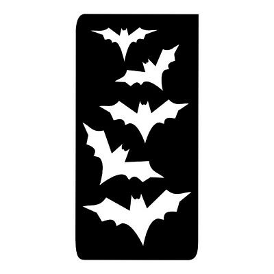 FG082 HALLOWEEN BATS Glitter Tattoo Body Art Stencils in packs of 10, 20 & 50