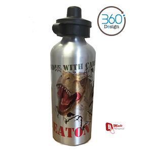 Personalised DINOSAUR Kids/Drinks/Childrens  Water Bottle - Any Name