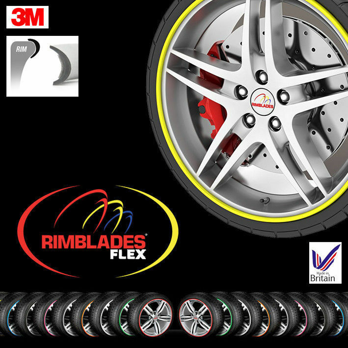 SILVER FLEX by Rimblades Car Tuning Alloy Wheel Rim Protectors Tyre Guard Line