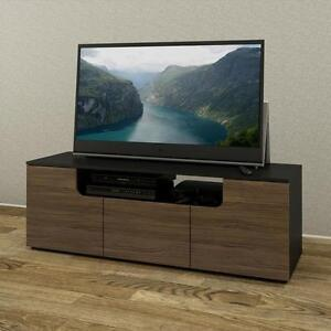 LIQUIDATION MEUBLE TV 60-inch TV Stand 600136 , Black and Walnut