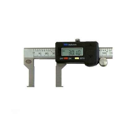 SEB CALIBRO DIGITALE LCD CENTESIMALE INOX CAVE INTERNE 150 MM. CUSTODIA RIGIDA