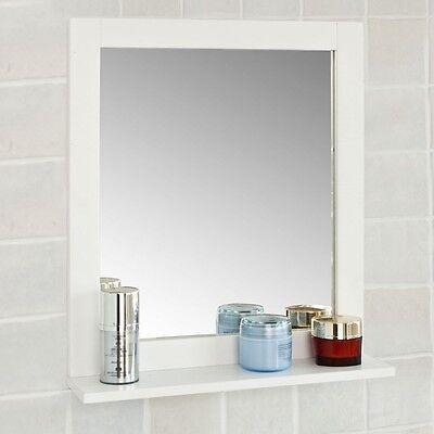 SoBuy® Spiegel, Wandspiegel, Badspiegel mit Ablage,Kosmetikspiegel, FRG129-W Spiegel