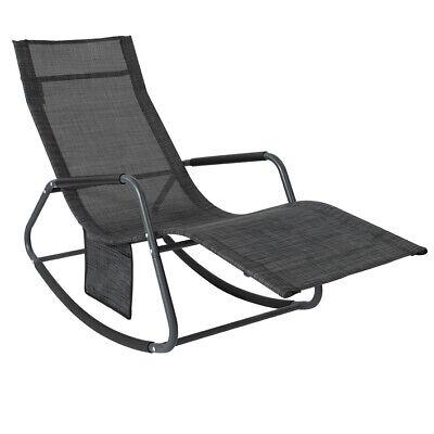 SoBuy®Outdoor Garden Rocking Relaxing Chair Recliner Sun Lounger,OGS47-MS,UK