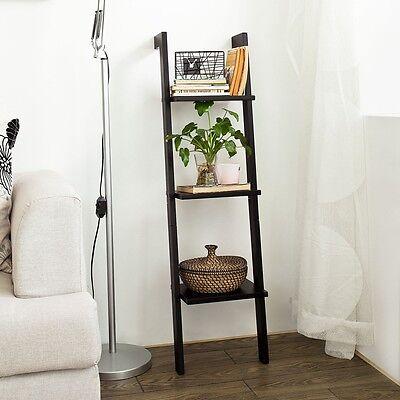 Drei Regal (SoBuy® Modernes Leiterregal mit drei Böden,Standregal,Wandregal,FRG32-SCH)
