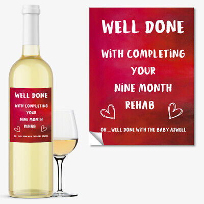 WINE BOTTLE LABEL New Mum Funny Rude Baby Shower Gift New Born Boy Girl #1057 ()