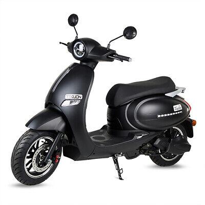 Moto scooter electrica matriculable 1500w bateria 63v 50Ah Tivoli color negro