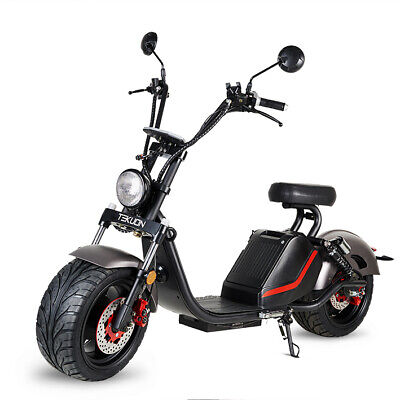 Moto electrica scooter matriculable 1500w 60v20Ah bateria Caigiee CityCoco gris