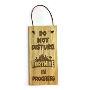 FORTNITE DO NOT DISTURB Oak Veneer Quality Wooden Plaque Door Hanger Sign 9x19cm