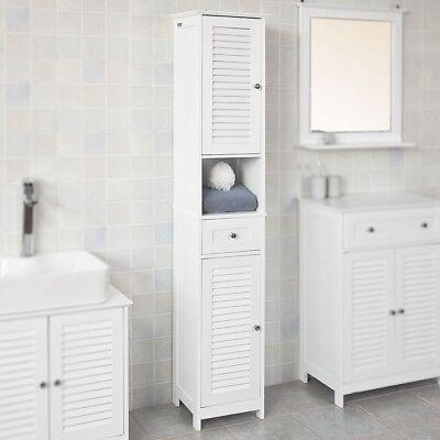 SoBuy® Badezimmer-Hochschrank Badregal Badschrank mit 2 Türen,Weiß,FRG236-W - 2 Tür Hochschrank