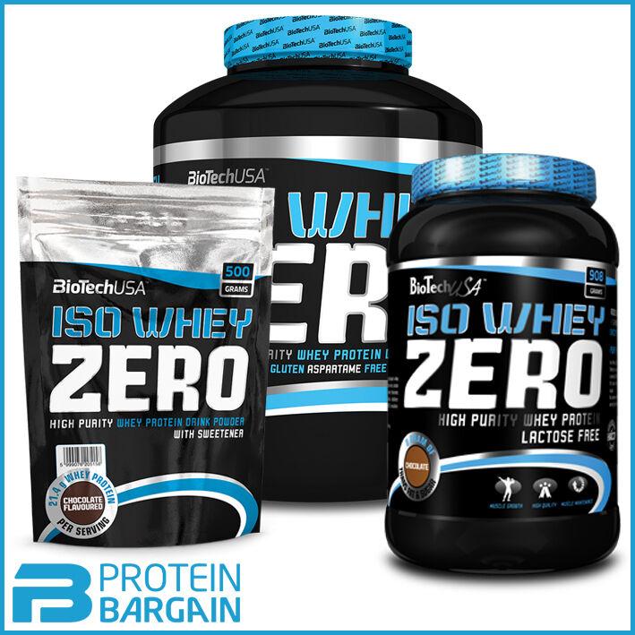 Biotech USA Iso Whey Zero Protein Isolate 25 Gram / 500 Gram / 908 Gram / 2.27kg