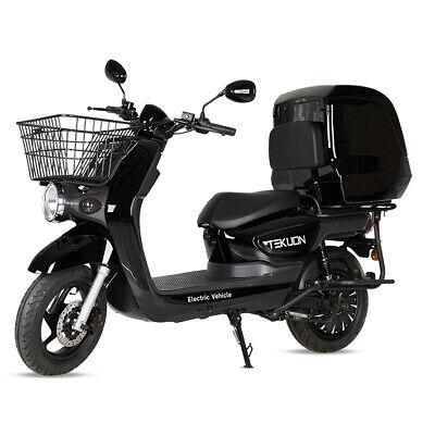 Moto scooter electrica matriculable 2000w con baul caja negocios color negra