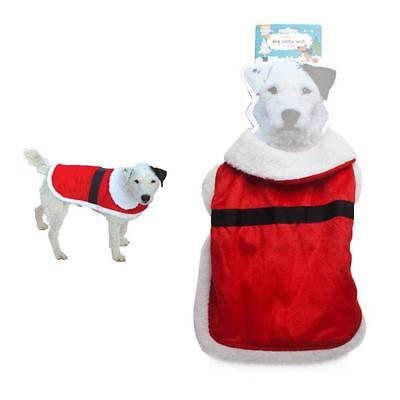 Good Boy Red White Santa Dog Puppy Xmas Christmas Coat Jumper Outfit 6 - Boy Dog Outfits