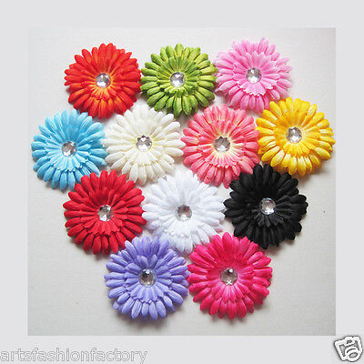Daisy Flower Clip Crocheted Woman Girls Baby Headbands Hair
