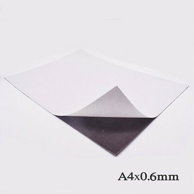 1pc Magnetic Sheets 0.6mm Non-adhesive Self-adhesive Soft Magnetic Flexible