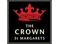 CHEF DE PARTIE - LIVE IN - THE CROWN, ST MARGARETS, NR. TWICKENHAM - UP TO £22.5K + OVERTIME