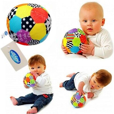 Playgro Baby Toddler Kids Children Soft Plush Rattles Soccer Ball Crib Sport Toy (Plush Soccer Ball)