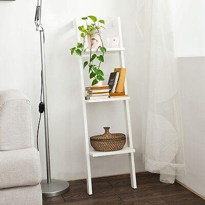 Drei Regal (SoBuy® Leiterregal mit drei Böden,Bücherregal,Wandregal,Standregal FRG32-W)