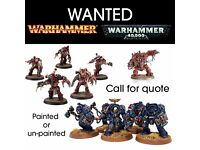 Warhammer Figures Wanted - Will buy your old collection for cash