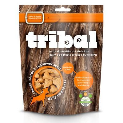 TRIBAL CHEESE CARROT SUNFLOWER SEEDS Treats Premium Dog GF Natural Biscuits 130g