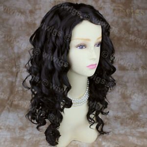 Details about NEW Long Wavy Dark Brown Versatile Hair Curly Ladies Wig ...
