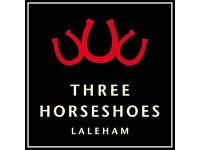 Bar/Waiting Staff - The Three Horseshoes. Laleham, near Staines - up to £7.50/hr + great tips!