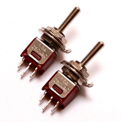 2x Spdt Sub Mini Toggle Switch On-off-on Center Off -guitar Eurorack- Us Seller