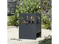 Large Fire Pit: Anabar Log Burner, Chimenea Patio Heater Chiminea Tall Basket