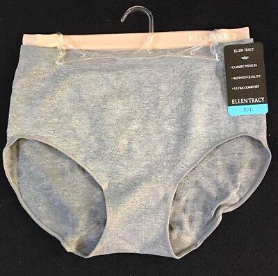 Ellen Tracy Intimates 2-pack High-Cut Stretch Briefs Panties 6/M 7/L $24 -