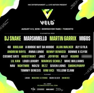 VELD 2 days tickets $220
