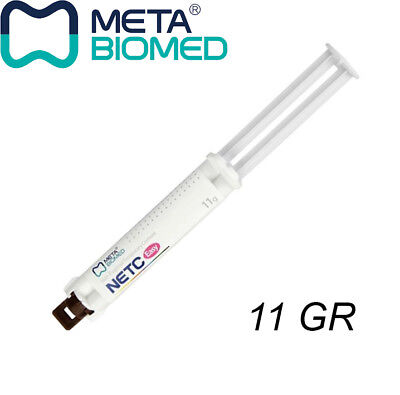 Dental Temporary Cement Non Eugenol Automix Syringe Meta 11 Gr Netc Easy