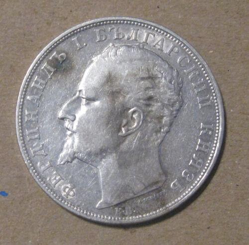 Bulgaria - 1894 Large Silver 5 Leva