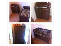 Cotbed draws and wardrobe nursery set