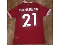 Liverpool home shirt 2017/18 with CHAMBERLAIN 21