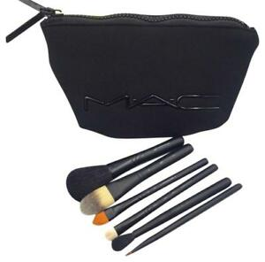 MAC COSMETICS Look in a Box Brush Kit Basic 6 Pc + Bag - NEW - 100% Authentic