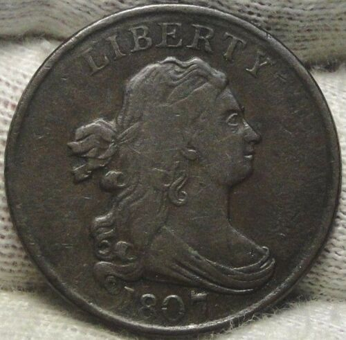 1807 Draped Bust Half Cent - Nice Coin, Free Shipping  (7648)