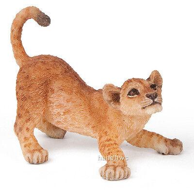 Papo 50126 Young Lion Cub Playing Wild Animal Figurine Model Toy - NIP