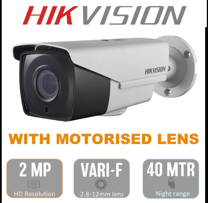 Hikvision THC B220 Z Bullet Camera with 2.8-12mm AUTOFOCUS MOTORISED LENS CCTV