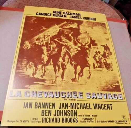 James COBURN Gene HACKMAN Candice BERGEN french Pressbook BITE THE BULLET