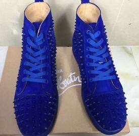 Christian Louboutin blue spikes