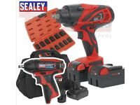 SEALEY TOOLS 18V & 12V IMPACT WRENCH TRIPLE PACK CP3005 CP1204 & IMPACT SOCKETS.