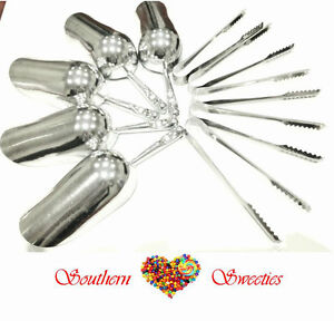 CANDY-BUFFET-5-X-LOLLY-SCOOPS-5-X-CANDY-TONGS-lollies-candy-buffet-serving