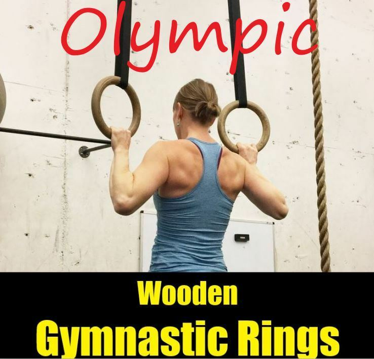 Gymnastic Rings Wooden 28mm Exercise Fitness Thickness Exerc