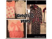 Girls 11-12 years pj bundle of 11