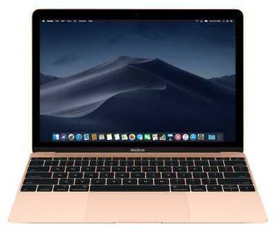 "Apple MacBook 12"" IPS -Intel M3 256GB SSD 8GB RAM Retina 1440p-Gold(NEW SEALED)"